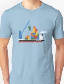 TETRIS CARGO SHIP Last Man On Earth phil miller T-Shirt