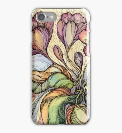 Bridal Bouquet.Hand drawn watercolor and ink drawing iPhone Case/Skin