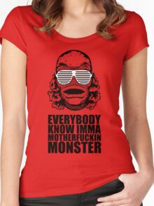 MONSTER Women's Fitted Scoop T-Shirt