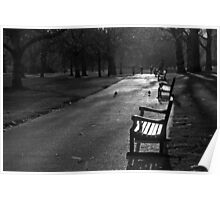 Empty seat, St James Park, London Poster