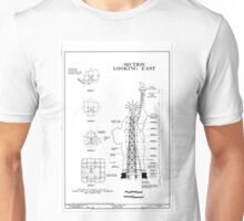 Statue of Liberty Structural Schematic Unisex T-Shirt