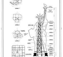 Statue of Liberty Structural Schematic by BravuraMedia