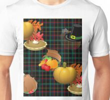 thanksgiving plaid Unisex T-Shirt