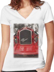 Alfa Romeo Monza Replica Women's Fitted V-Neck T-Shirt