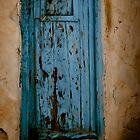 Blue door on Mykonos by KSKphotography