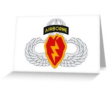4th BCT Airborne 25th Infantry Greeting Card