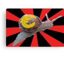 EU recovery moving along at a snail's pace Canvas Print