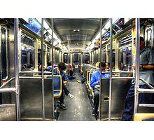 Blue Line to O'Hare Photographic Print