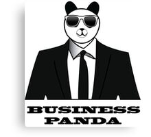 Business Panda Canvas Print