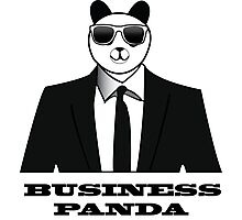 Business Panda Photographic Print