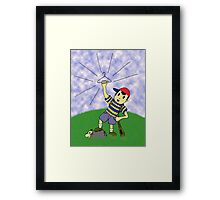 "Earthbound - ""Coat Hanger Ness"" Framed Print"
