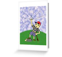 "Earthbound - ""Coat Hanger Ness"" Greeting Card"
