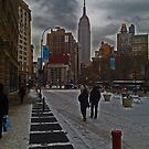 Empire State view in Winter by michael6076