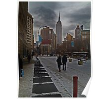 Empire State view in Winter Poster