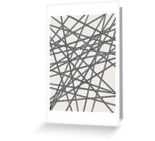 Crossed Lines - Black Edition Greeting Card