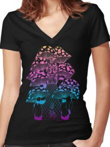 Follow the Rabbit Women's Fitted V-Neck T-Shirt