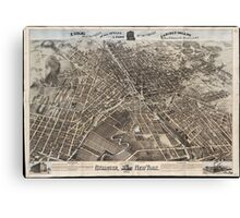 Vintage Pictorial Map of Syracuse New York (1874) Canvas Print