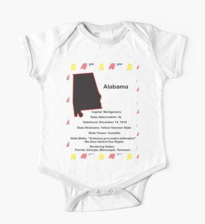Alabama State Facts Kids Clothes