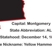 Alabama State Facts Sticker