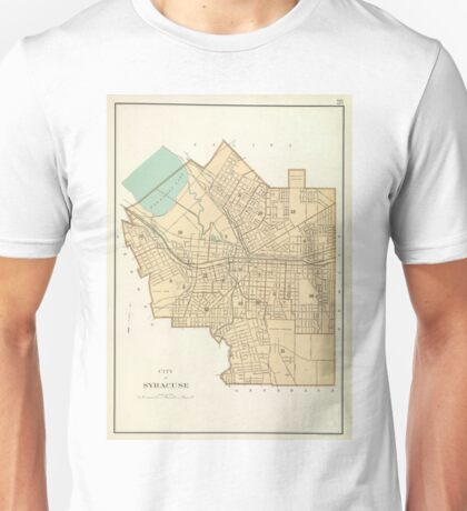 Vintage Map of Syracuse New York (1895) Unisex T-Shirt