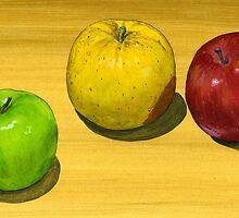 Fancy Apple Trio by bernzweig