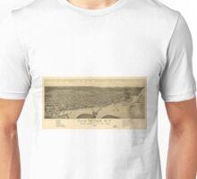 Vintage Pictorial Map of Tacoma Washington (1885) Unisex T-Shirt