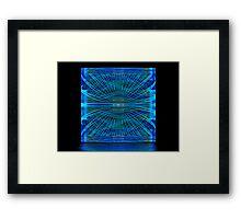 Blue Splits Crop Box Framed Print