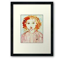 Alice Still In Wonderland Framed Print