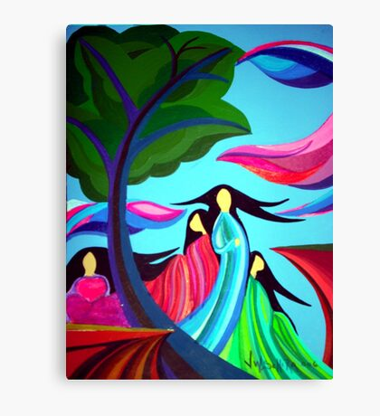 Ladies of the Cliff Canvas Print