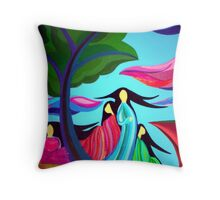 Ladies of the Cliff Throw Pillow
