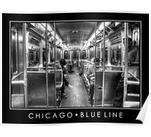 Blue Line to O'Hare Poster