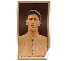 Benjamin K Edwards Collection William Kelly Pittsburgh Pirates baseball card portrait Poster