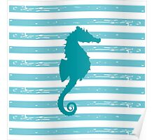 AFE Mint Seahorse  Poster