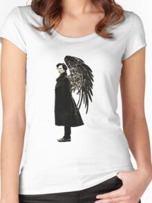 side of angels -large Women's Fitted Scoop T-Shirt