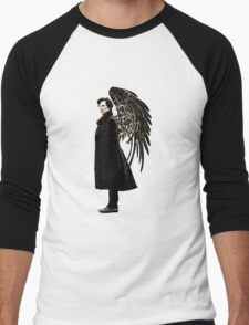 side of angels -large Men's Baseball ¾ T-Shirt
