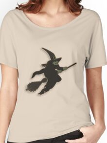 Witch on broom stick Women's Relaxed Fit T-Shirt