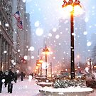 Chicago Snowfall by Tanya Pshenychny