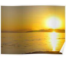 Sunset in 2009 - Great Salt Lake Poster
