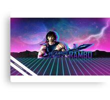 Rambo 80's Future Canvas Print