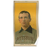 Benjamin K Edwards Collection Tommy Leach Pittsburgh Pirates baseball card portrait 001 Poster