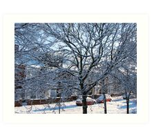 A Winter Street Scene Art Print
