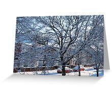 A Winter Street Scene Greeting Card