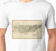 Vintage Map of Tennessee (1822) Unisex T-Shirt