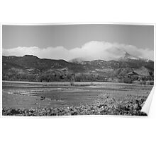 Clouds Hanging On Longs Peak Boulder County CO Poster