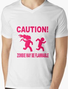 Zombie may be flammable Mens V-Neck T-Shirt