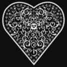 Ironwork heart white by venitakidwai1