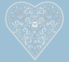 Ironwork heart white Kids Clothes