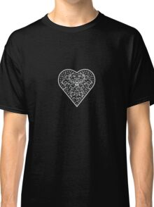 Ironwork heart white Classic T-Shirt