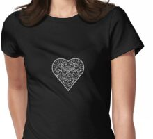 Ironwork heart white Womens Fitted T-Shirt