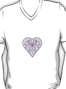 Ironwork heart purple T-Shirt